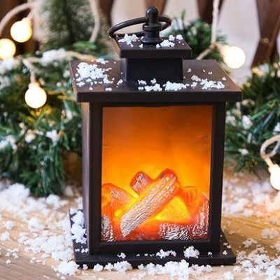 LED Carbon Fire Flame Lamp