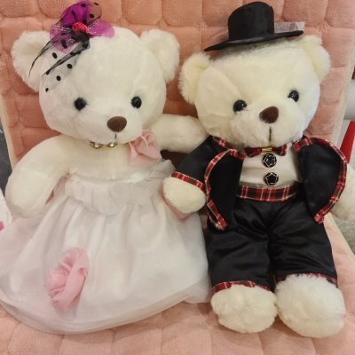 Wedding Plush Bear Couple Gift