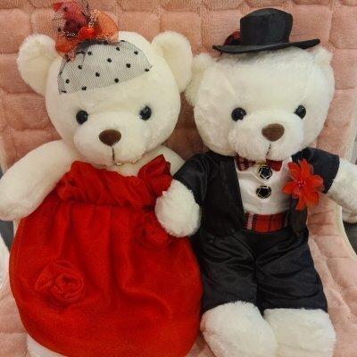 Wedding Gift Plush Toys Couple Bear