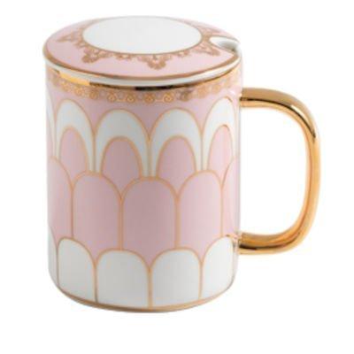 Ceramic Coffee Mug Spoon Saucer 360ml