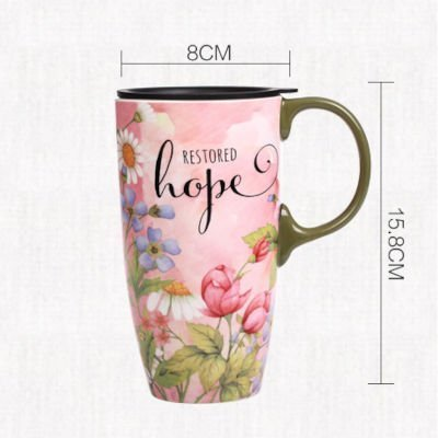 Large Colorful Cup With Lid 500ml