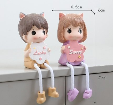 Hanging Leg Figurines Lucky Sweet
