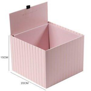 Gift Box Pink Gold Stripe