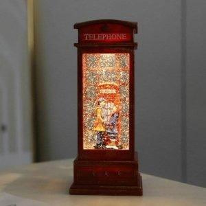 Crystal Lantern Couple Phone Booth Music Box