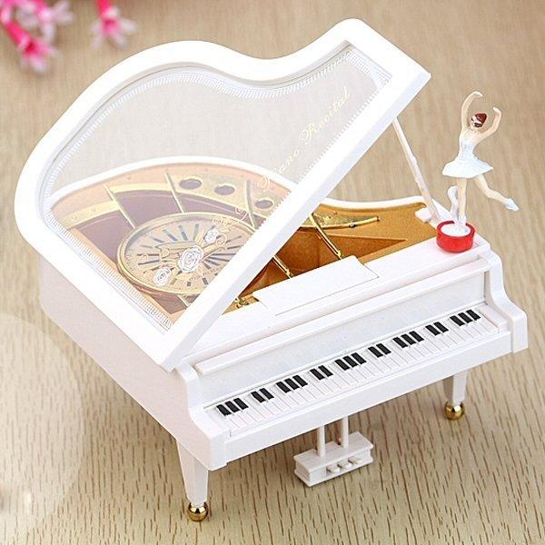 Clockwork Piano Ballet Girl Music Box