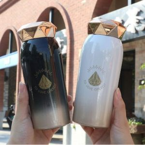 Vacuum Flask Diamond Shape Cover 280ml