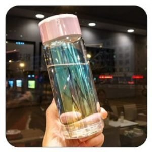 Transparent Glass Water Bottle 320ml
