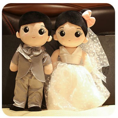 Wedding Doll Couple Plush Toys