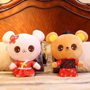 Wedding Doll Chinese Costume Plush Toys 50cm