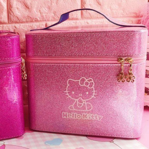 Pearl Shiny Hello Kitty Cosmetic Box