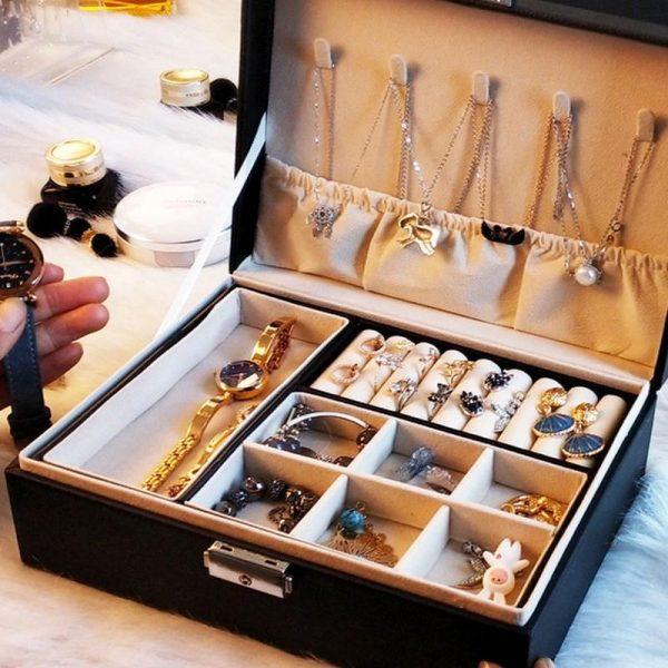 Jewelry Storage Box With Lock