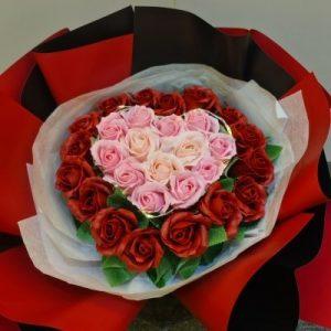 Eternal Love Soap Flowers Bouquet