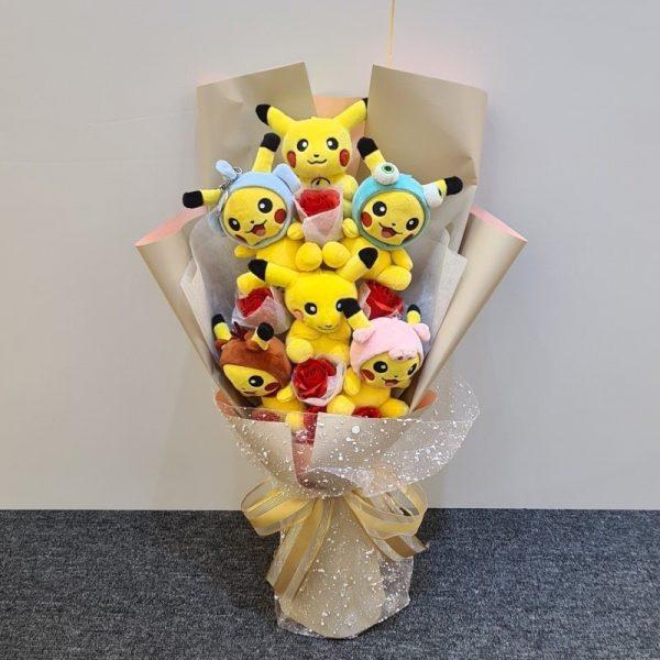 Pikachu Bouquet Soap Flowers