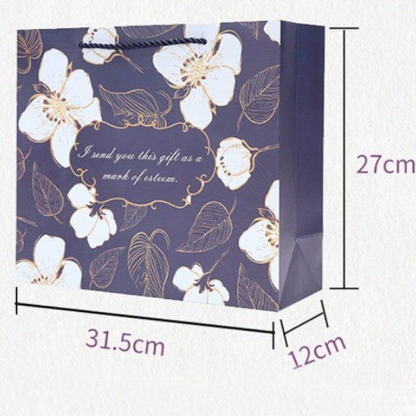 Floral Blue Gift Bag