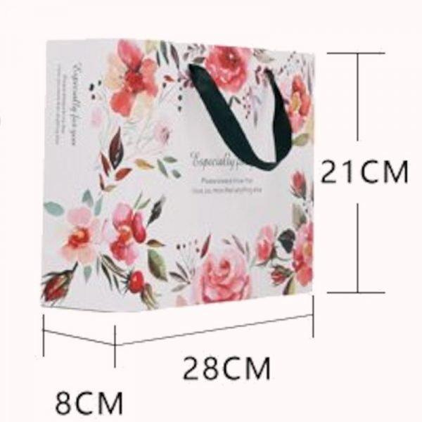 Colorful Floral Gift Bag