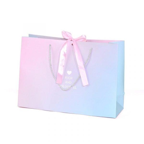 Blue Ribbon Gift Bag