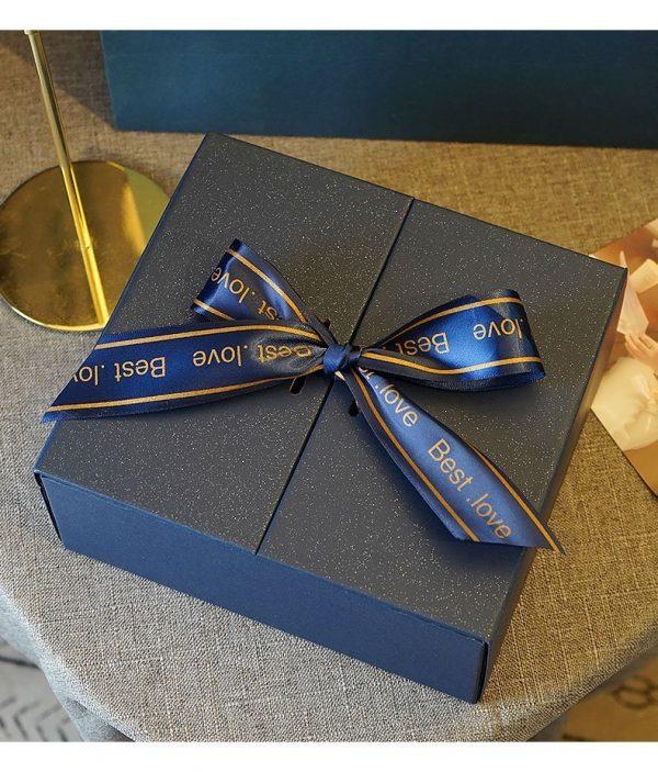 Modern Ribbon Gift Box Blue