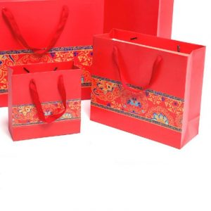 Red Festive Gift Bag Large