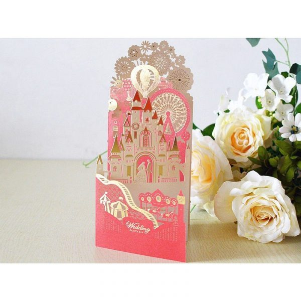 Ferris Wheel Wedding Greeting Card