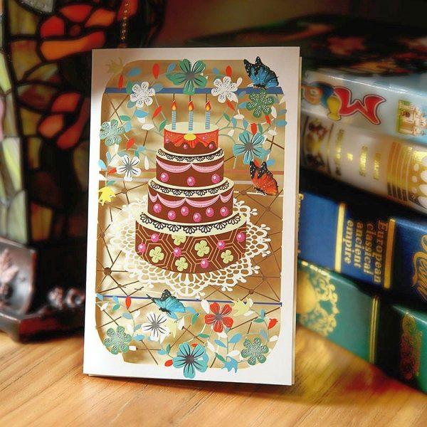 3D Birthday Cake Greeting Card