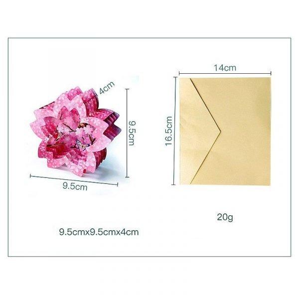 3D Sakura Shape Greeting Card