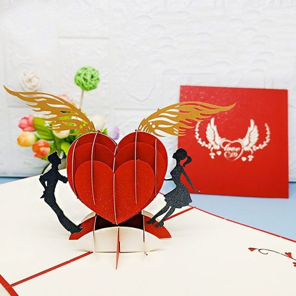 Heart-to-heart 3D Greeting Card