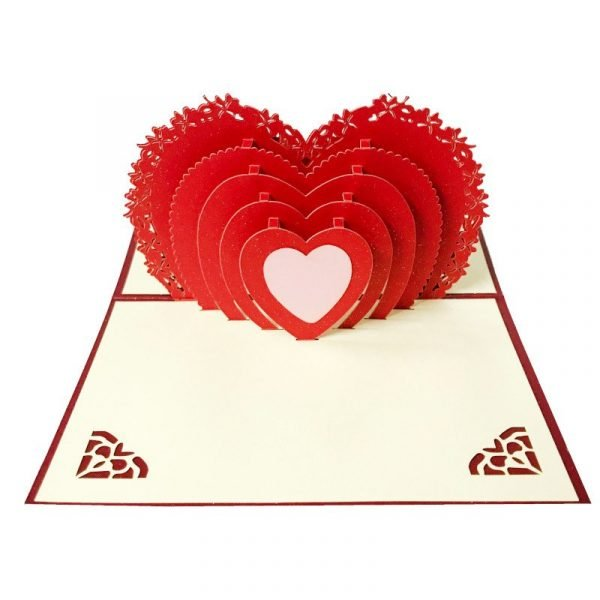 Heart Tunnel 3D Greeting Card