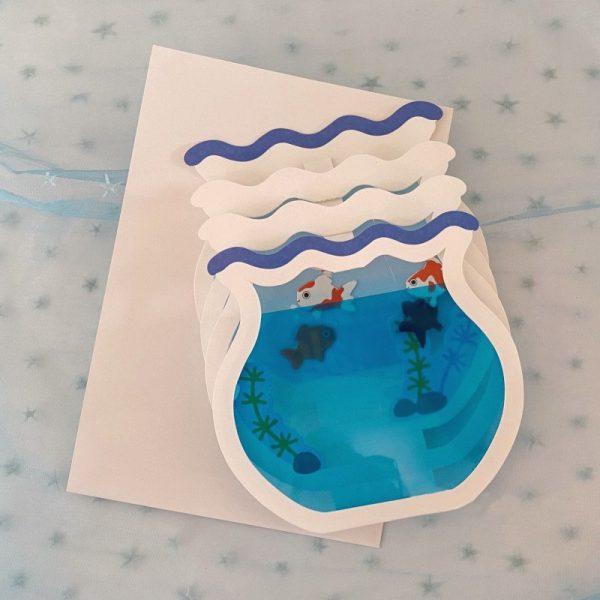 3D Aquarium Greeting Card