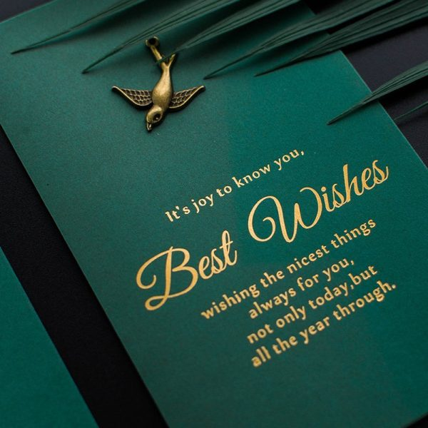 Best Wishes Sign Greeting Card