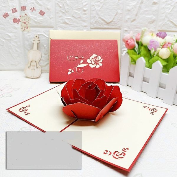3D Cherry Blossom Greeting Card