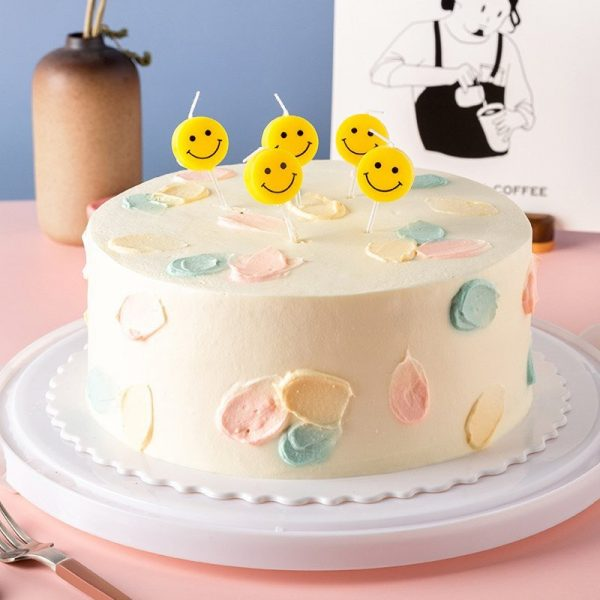 Smiley Face Birthday Candles