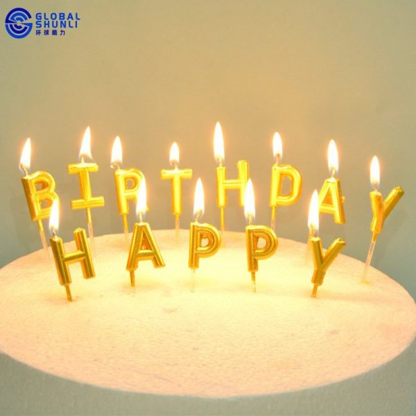 Birthday Candle Letters