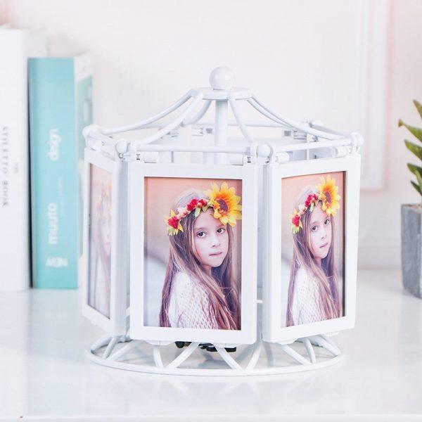 6 Rotating Photo Frames Music Box