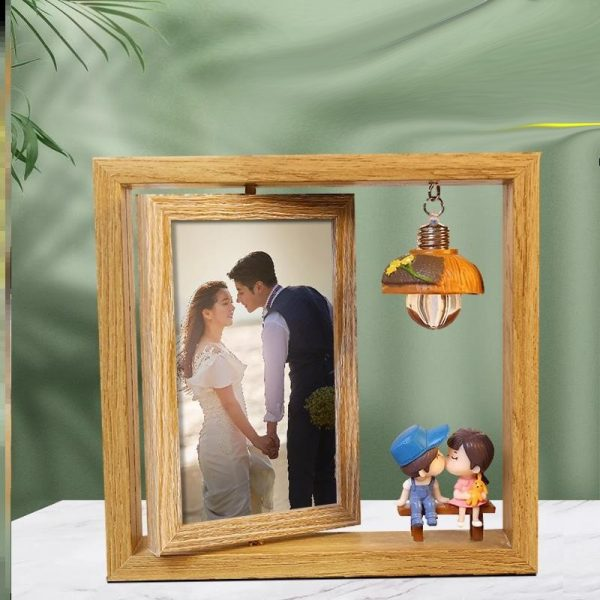 Double-sided Rotating Photo Frame 4R