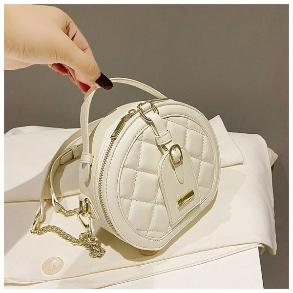 French Texture Small Round Bag
