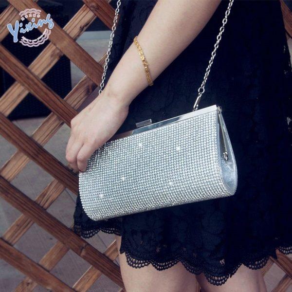 Diamond-studded Small Banquet Bag
