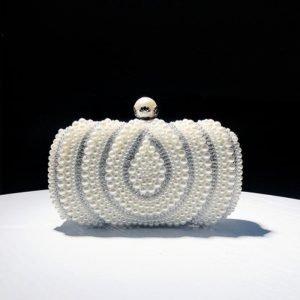 Banquet Pearl Studded Clutch Bag
