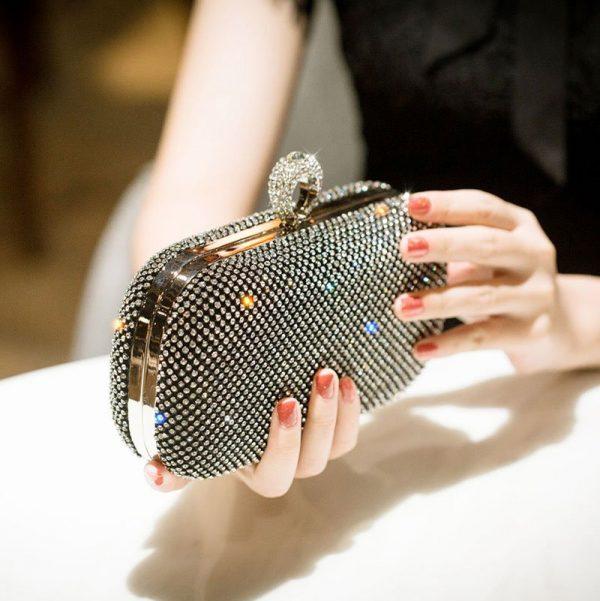Diamond Studded Small Handbag