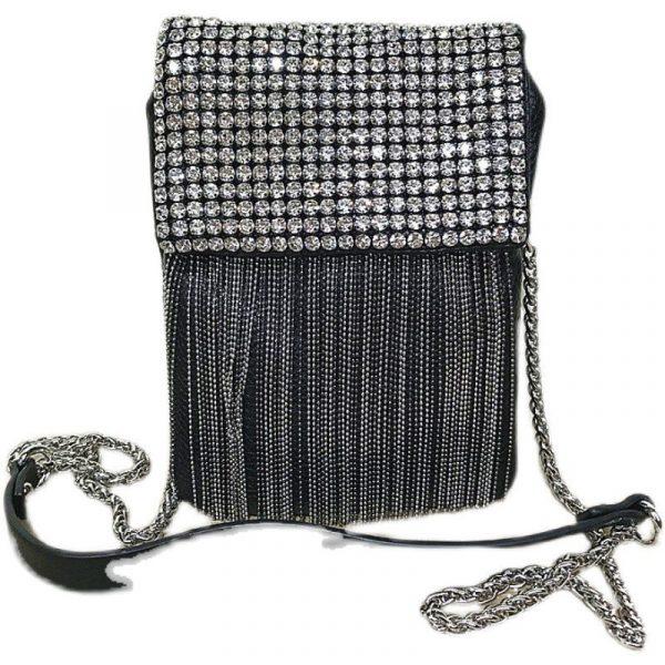 Tassel Rhinestone Soft Bag