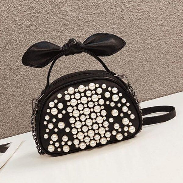 French Niche Pearl Chain Bag