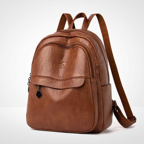 Sheepskin Leather Backpack