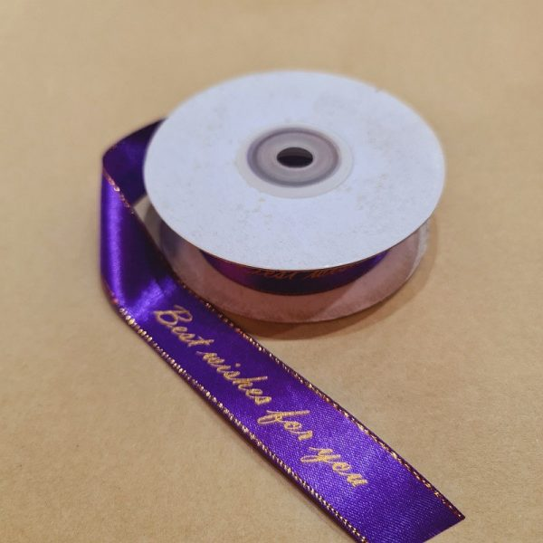 Best Wishes For You Ribbon 100% Nylon