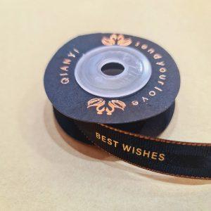Best Wishes Ribbon 100% Nylon