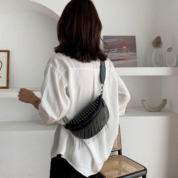 Wide Shoulder Strap Waist Bag