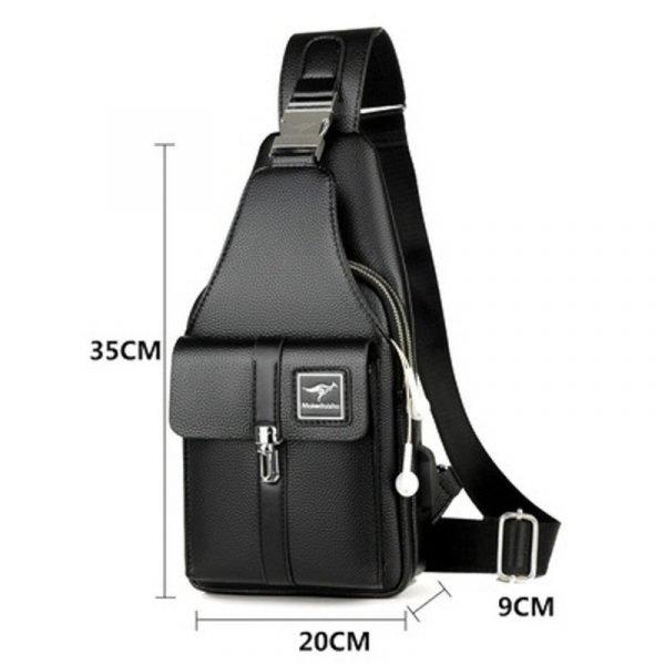 Executive Leather Shoulder Bag