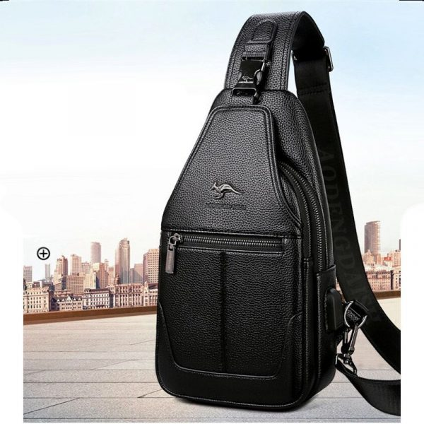Casual Leather Chest Bag