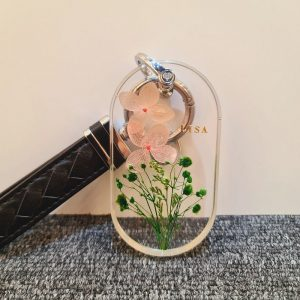 Resin Dried Flowers Keychain