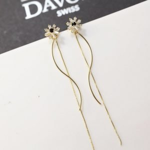 Long Earrings Silver Needle Earrings