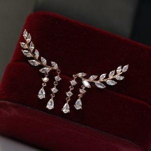 925 Sterling Silver Needle Earrings