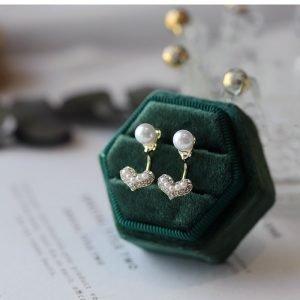 Love Shaped Pearl Earrings
